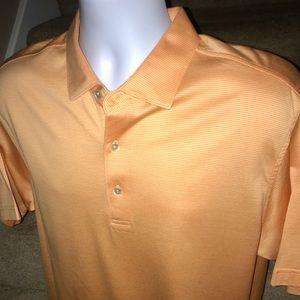 Peter Millar thin striped men's golf polo shirt M